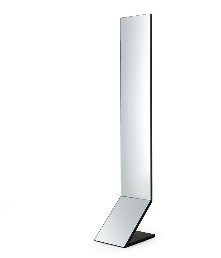 Specchi da terra dal design moderno e particolare for Specchio girevole da terra