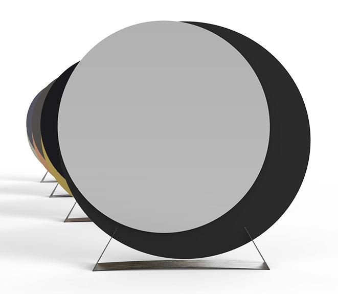 Modello di specchio da terra dal design moderno n.03