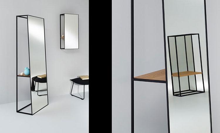 Modello di specchio da terra dal design moderno n.15