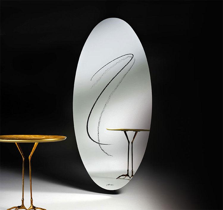 Modello di specchio da terra dal design moderno n.20