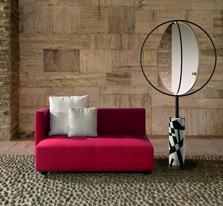 Modello di specchio da terra dal design moderno n.21