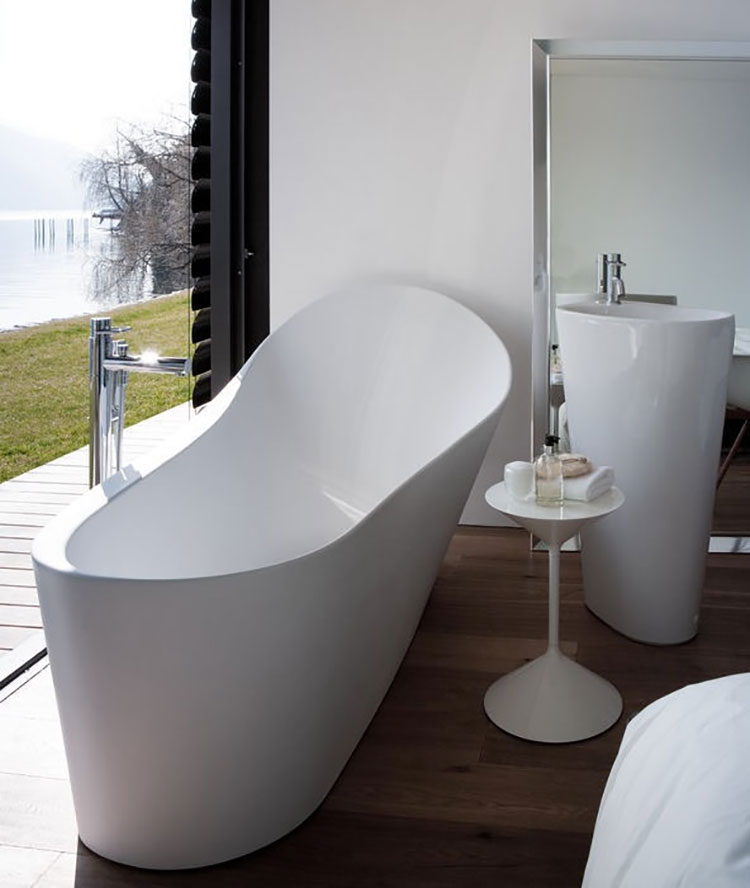 25 vasche da bagno dalla forma irregolare e particolare - Vasca da bagno libera installazione ...