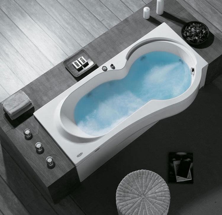 Vasca da bagno irregolare a incasso n.19