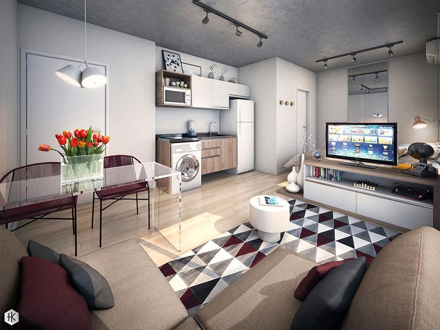 Idee di design per arredare un piccolo appartamento n.22