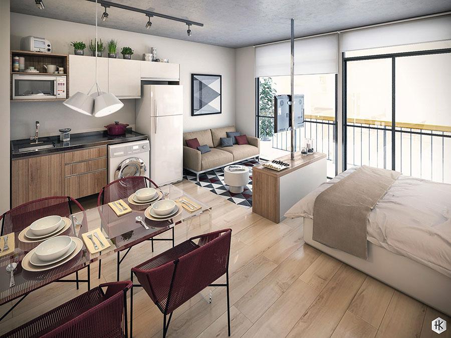 Idee di design per arredare un piccolo appartamento n.23