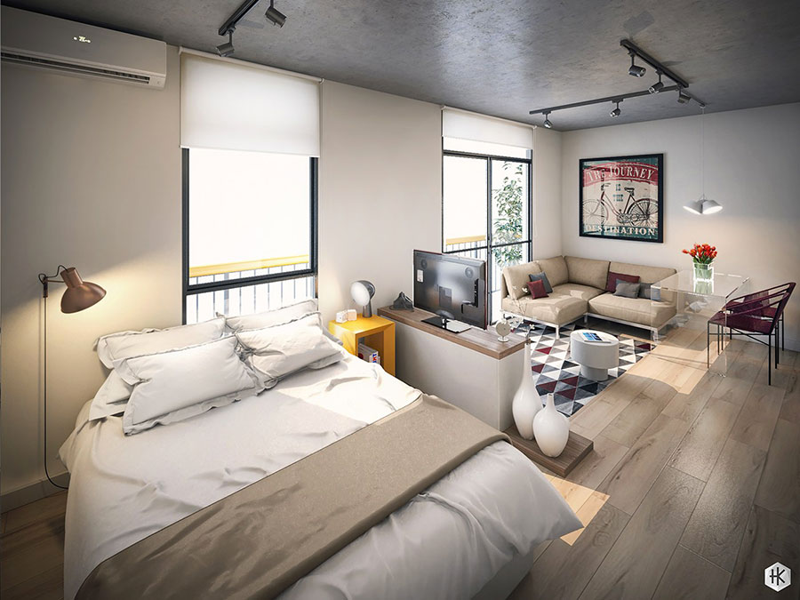 Idee di design per arredare un piccolo appartamento n.24