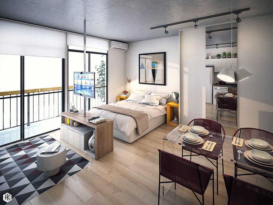 Idee di design per arredare un piccolo appartamento n.25