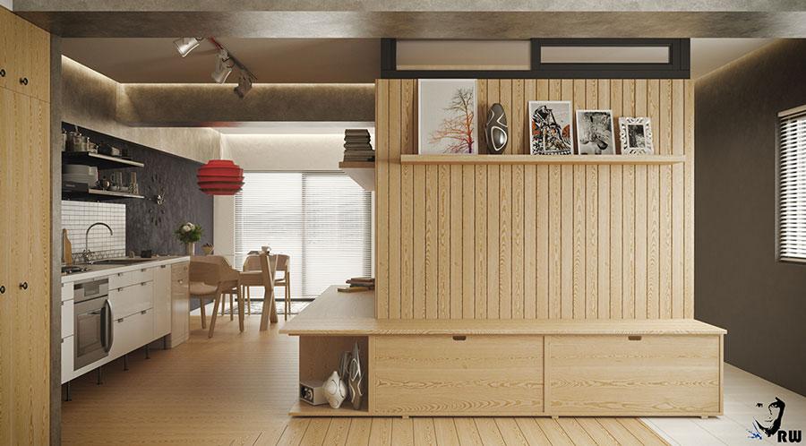 Idee di design per arredare un piccolo appartamento n.26