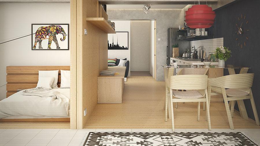 Idee di design per arredare un piccolo appartamento n.27