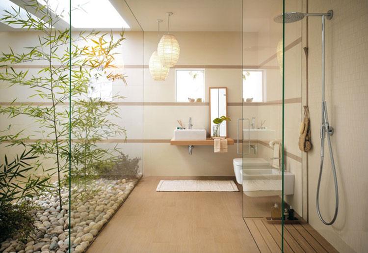 Bagno arredato in stile giapponese n.03