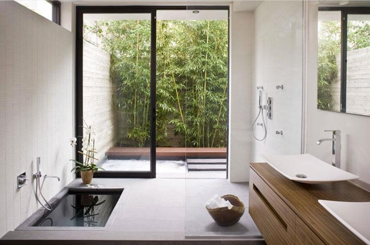 Bagno arredato in stile giapponese n.04