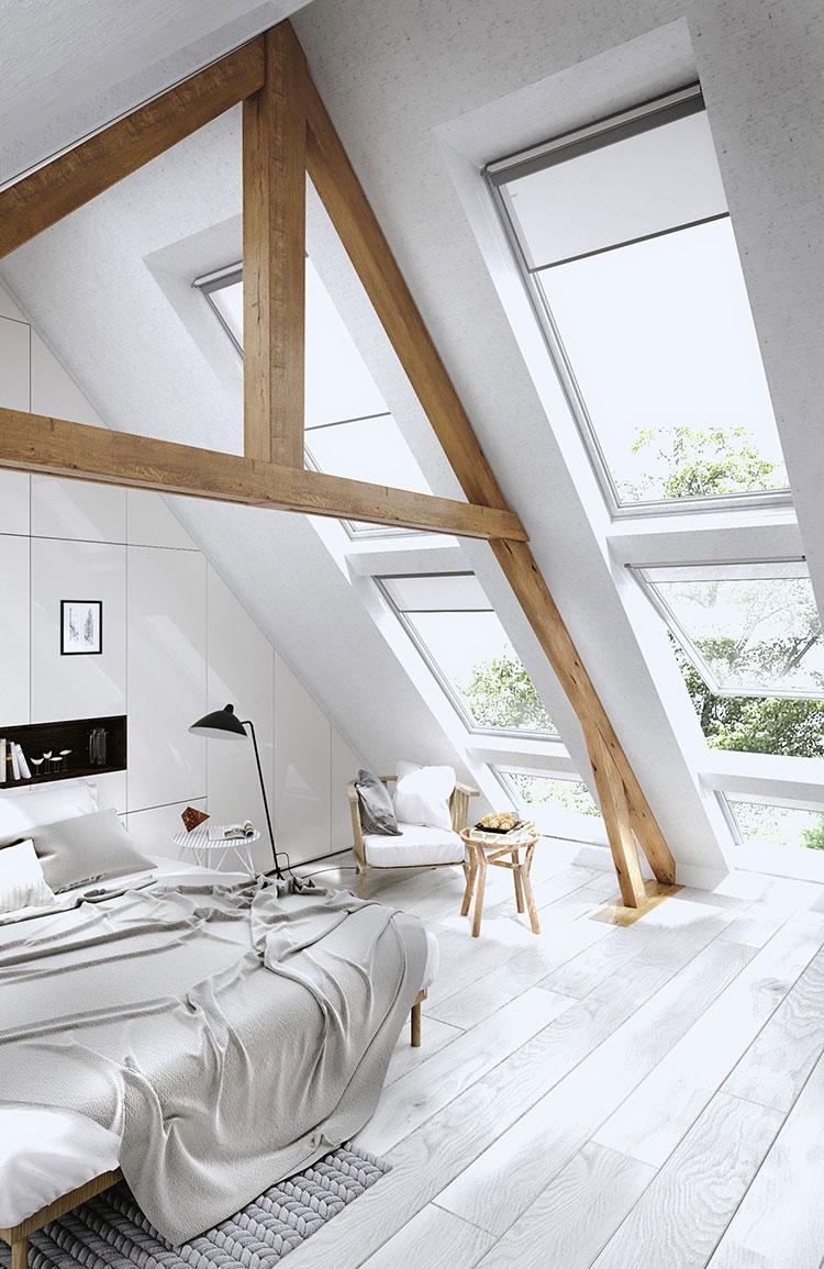 Camera da letto in mansarda 20 idee di arredamento - Idea camera da letto ...