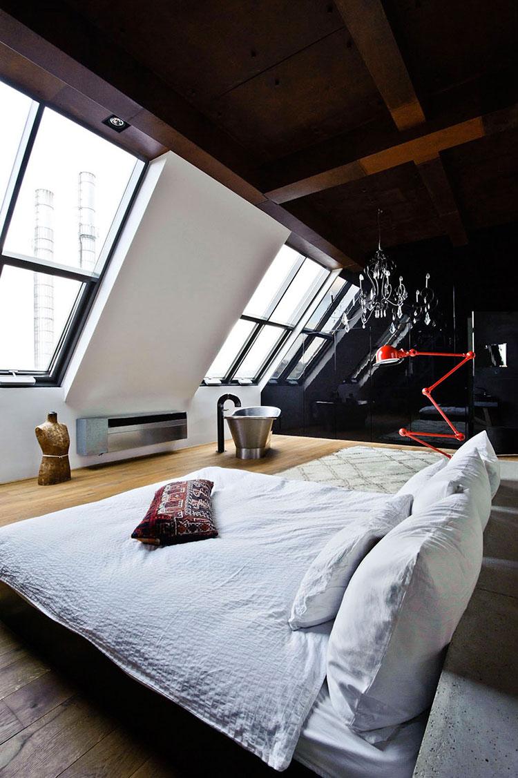 Idea per arredare una camera da letto in mansarda n.13