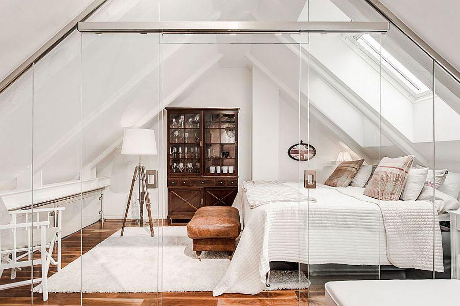 Idea per arredare una camera da letto in mansarda n.20