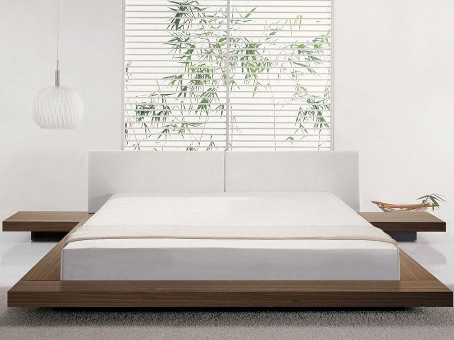 Camera da letto arredata in stile giapponese n.02