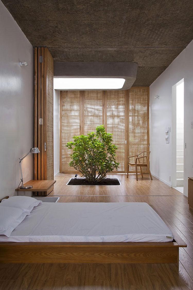 Camera da letto arredata in stile giapponese n.03