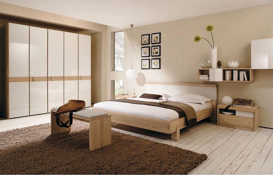 Camera da letto arredata in stile giapponese n.04