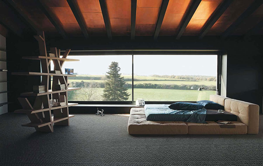 Camera da letto arredata in stile giapponese n.05
