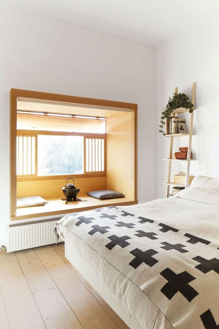 Camera da letto arredata in stile giapponese n.06