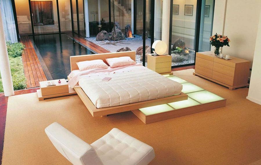 Camera da letto arredata in stile giapponese n.07