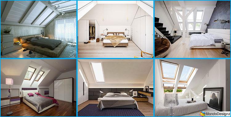 Camera da letto in mansarda 20 idee di arredamento for Idee per arredamenti interni