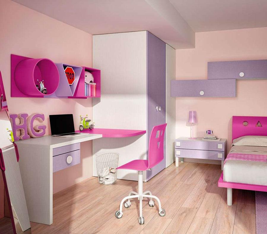 Camerette viola per bambine 20 carinissimi modelli for Ikea camerette ragazze