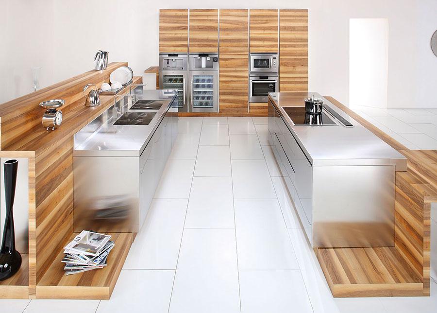 Cucina in acciaio moderna in stile industriale n.02