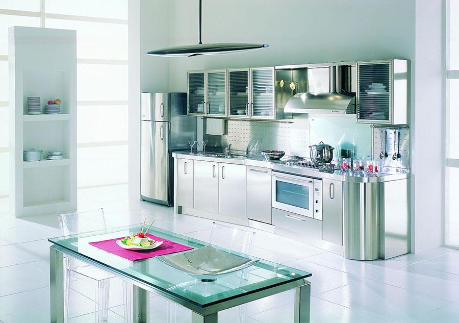 Cucina in acciaio moderna in stile industriale n.04