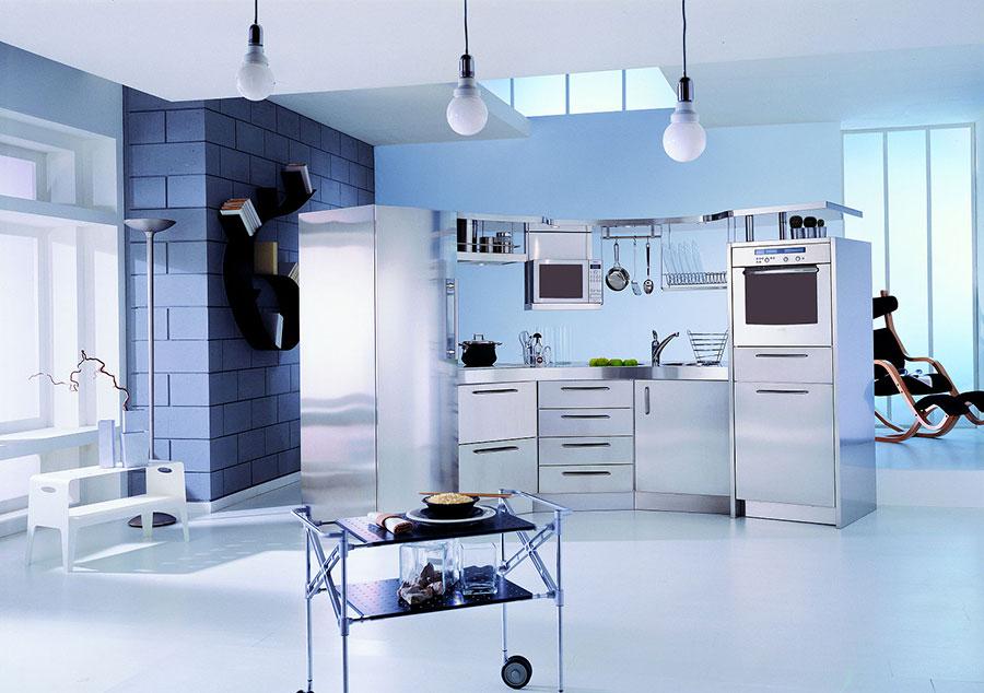 Pareti blu per cucine moderne 03