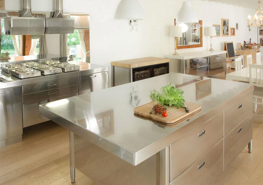 Cucina in acciaio moderna in stile industriale n.09
