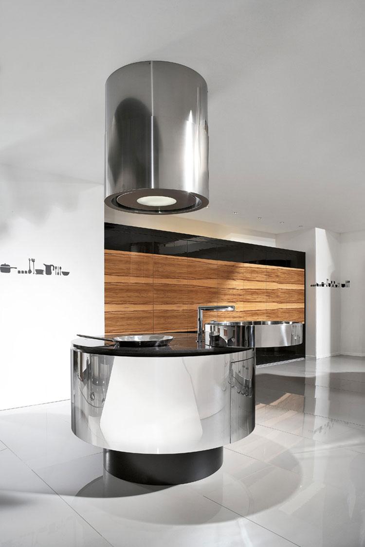 Cucina in acciaio moderna in stile industriale n.15