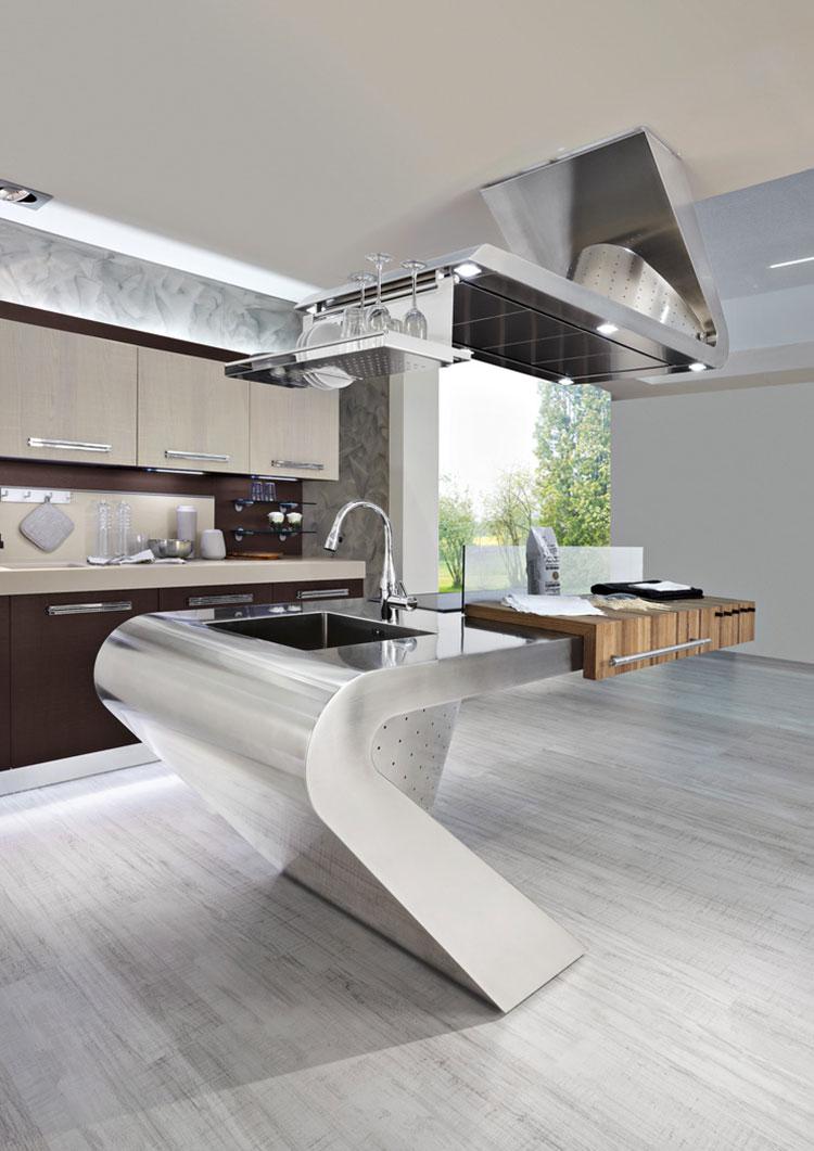 Cucina in acciaio moderna in stile industriale n.18