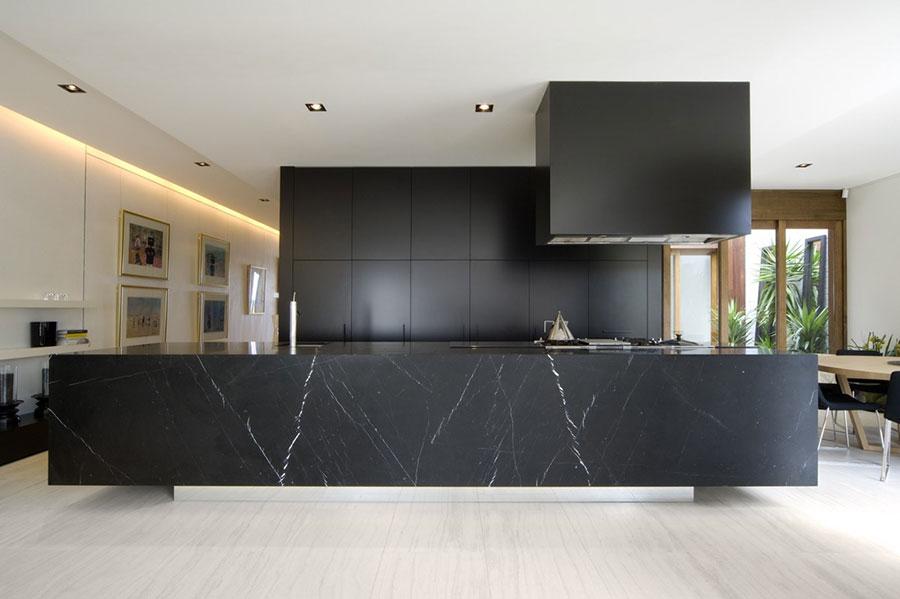 Modello di cucina nera di design n.12