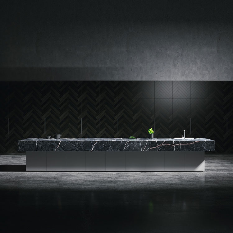 Modello di cucina nera di design n.13