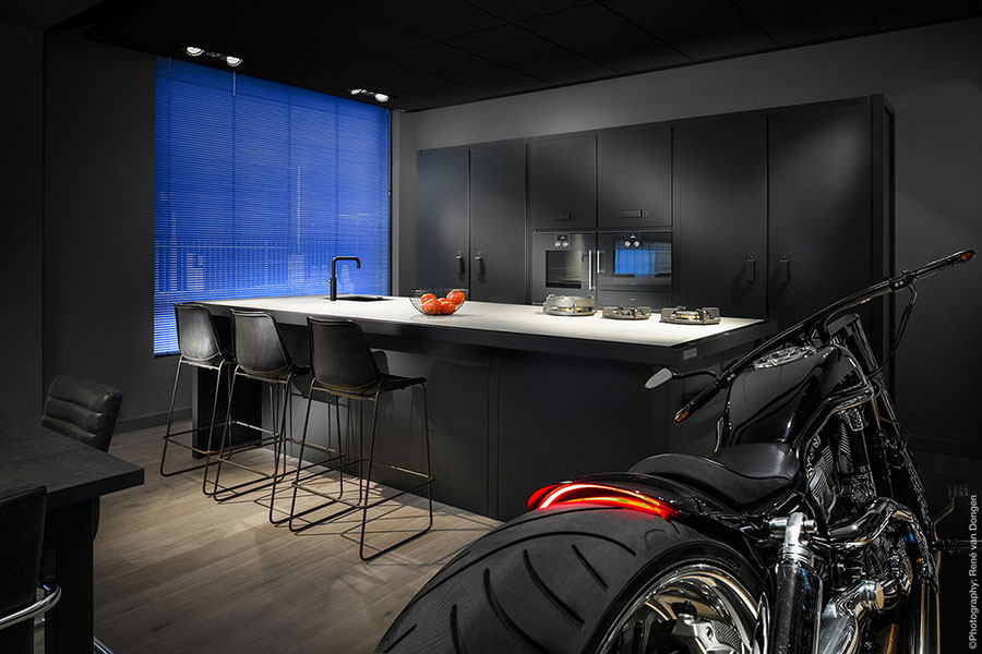 Modello di cucina nera di design n.14
