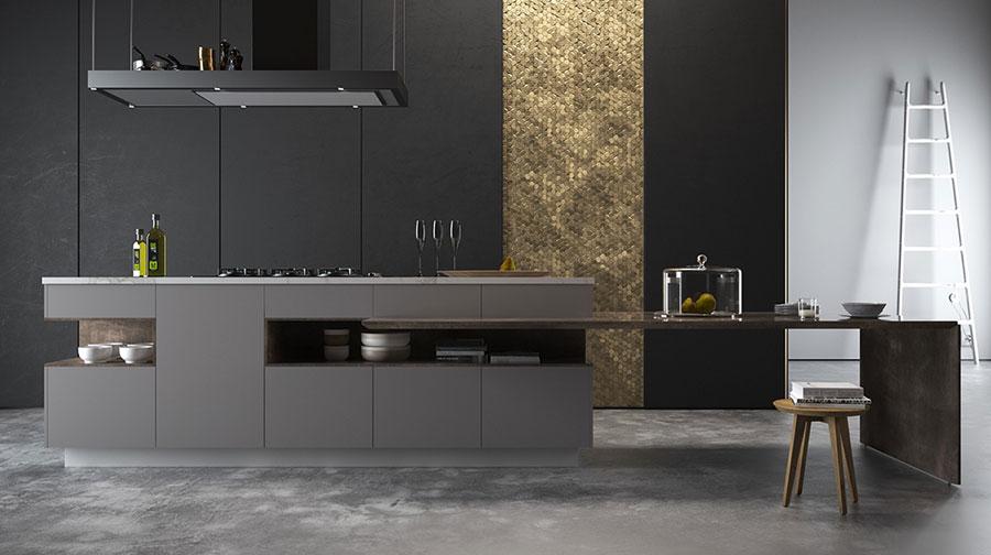 Modello di cucina nera di design n.15
