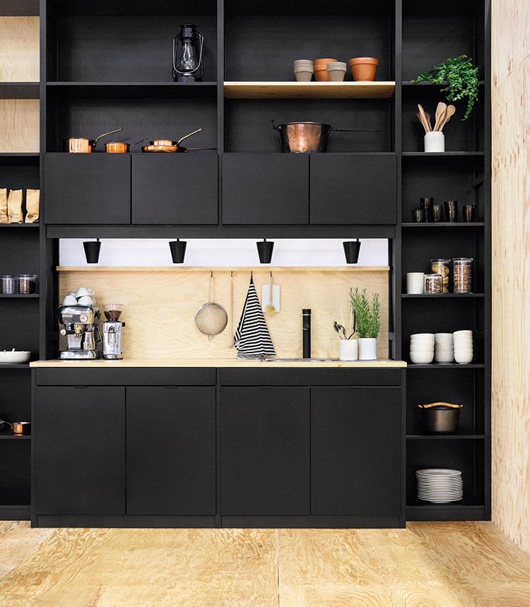 Modello di cucina nera di design n.18