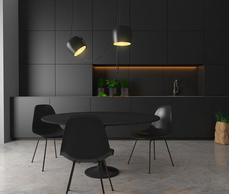 Modello di cucina nera di design n.20
