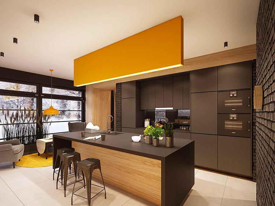 Modello di cucina nera di design n.22