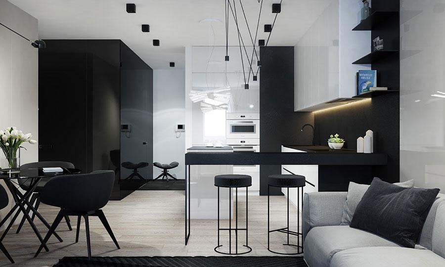 Modello di cucina nera di design n.23