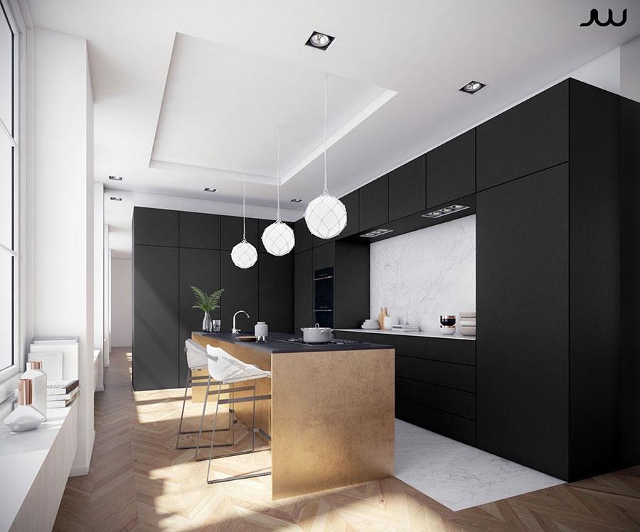 Modello di cucina nera di design n.26