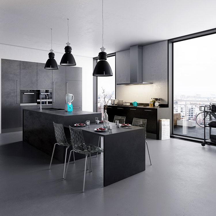 Modello di cucina nera di design n.27
