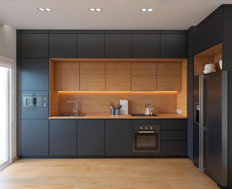 Modello di cucina nera di design n.28