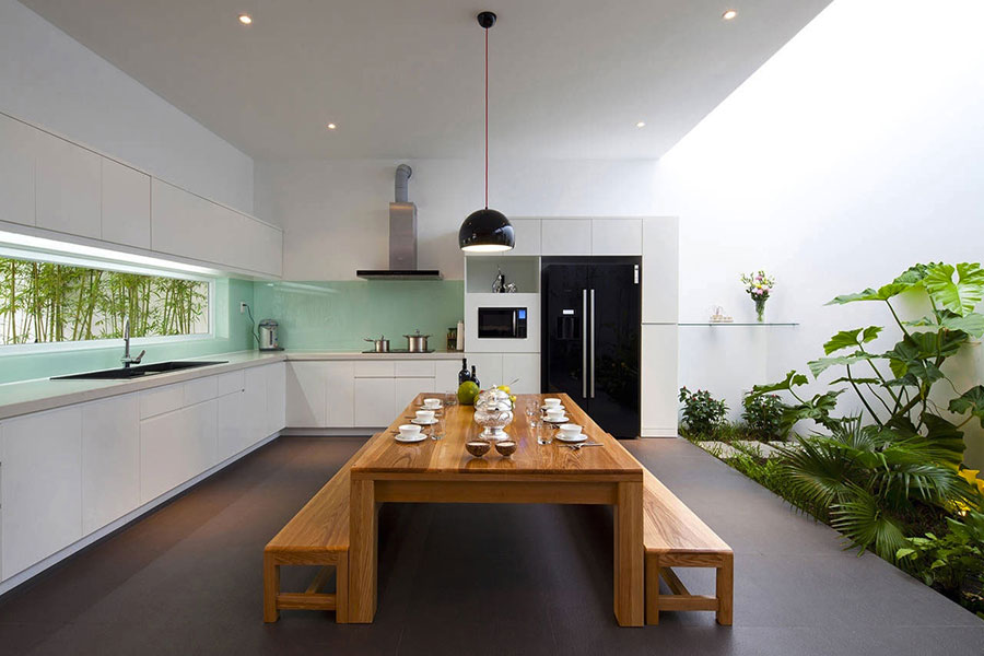Cucina arredata in stile giapponese n.04