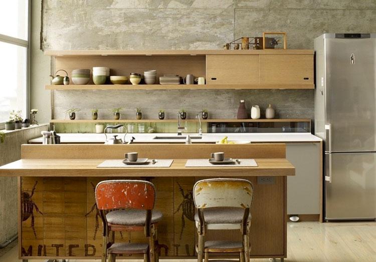 Cucina arredata in stile giapponese n.06