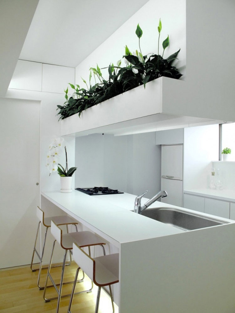 Cucina arredata in stile giapponese n.07