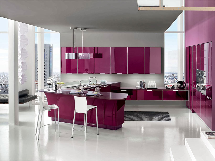 Best Cucina Color Melanzana Photos - Embercreative.us ...