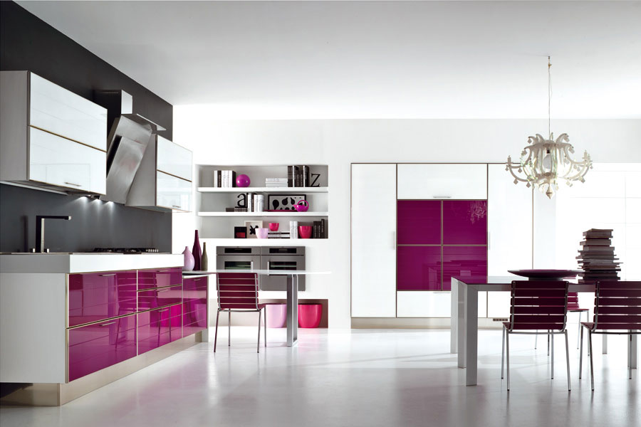 Modello di cucina viola n.09