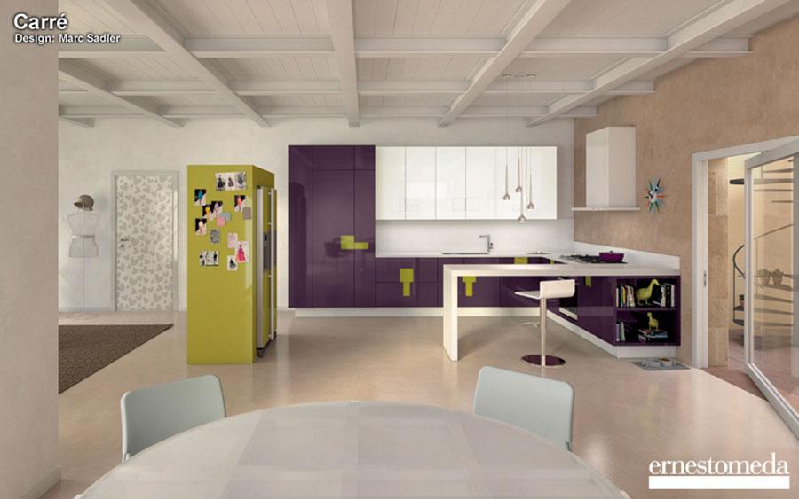 Modello di cucina viola n.11