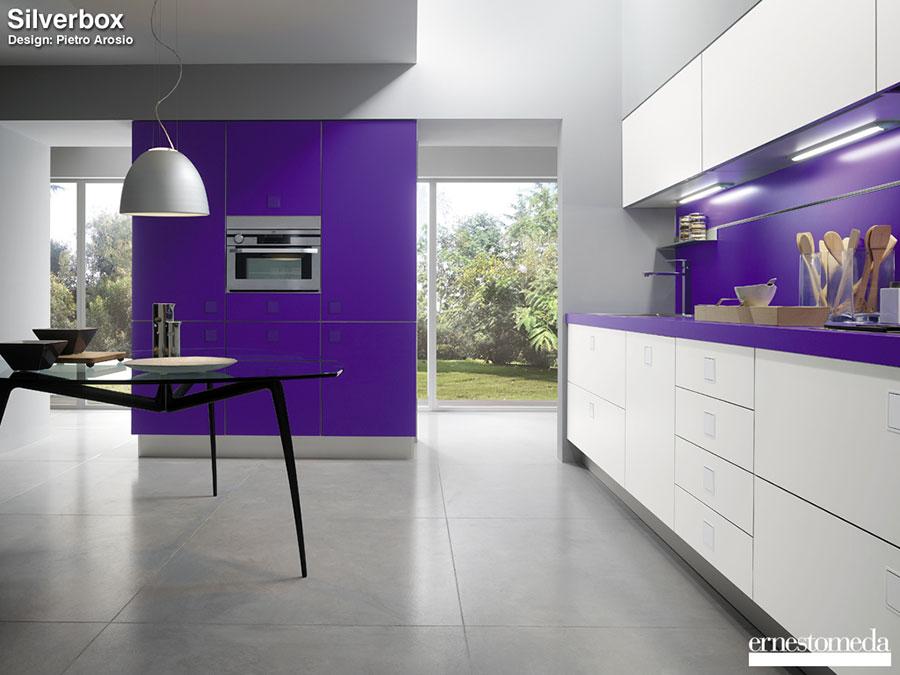 Modello di cucina viola n.12